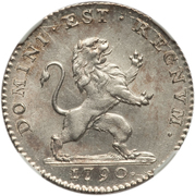 1 Florin / 1 Gulden (Type 2; Insurrection Coinage) – obverse