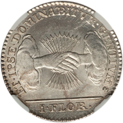 1 Florin / 1 Gulden (Type 2; Insurrection Coinage) – reverse