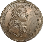 New year's token - Prince Charles Alexander of Lorraine – obverse