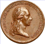 Token - Inauguration of Francis II of Austria in Namur – obverse