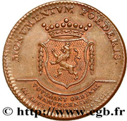 Token - Inauguration of Francis II of Austria in Namur – reverse