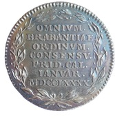 Token - The return of freedom in Brabant – obverse