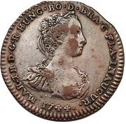 Medal - Maria Theresia (Gratitude of Flandria) – obverse