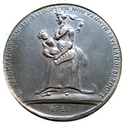 Satirical medal - War of Austrian succession – reverse
