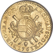 1 Souverain - Maria Theresia – reverse