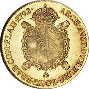 1 Souverain - Leopold II – reverse