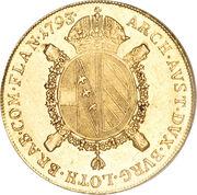 1 Souverain d'or - Franz II (Type 2) – reverse