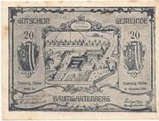 20 Heller (Baumgartenberg) – obverse