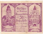 30 Heller (Baumgartenberg) – obverse