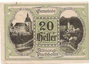 20 Heller (Attnang – Puchheim) – obverse
