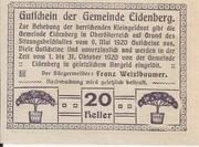 20 Heller (Eidenberg) – reverse
