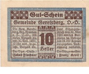 10 Heller (Geretsberg) – obverse