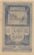 10 Heller (Goisern) – obverse