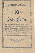 10 Heller (Goisern) – reverse