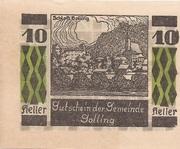 10 Heller (Golling) – obverse
