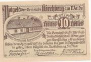10 Heller (Kirchberg am Walde) – obverse