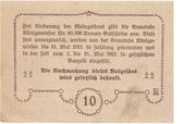 10 Heller (Königswiesen) – reverse