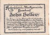 10 Heller (Loosdorf) – reverse