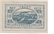 10 Heller (Lasberg) – obverse