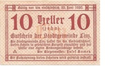 10 Heller (Linz) – obverse