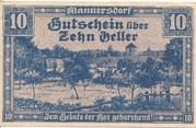 10 Heller (Mannersdorf) – obverse