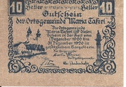 10 Heller (Maria-Taferl) – obverse