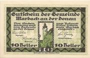 10 Heller (Marbach) – obverse