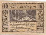 10 Heller (Martinsberg) – obverse