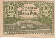 10 Heller (Mauer-Öhling) – obverse