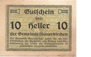 10 Heller (Mauerkirchen) – obverse