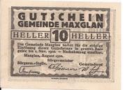 10 Heller (Maxglan) – obverse