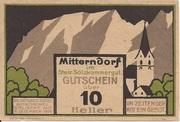 10 Heller (Mitterndorf) – obverse