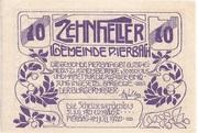 10 Heller (Pierbach) – obverse