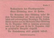 10 Heller (Ober-Wölbling) – reverse
