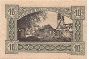10 Heller (Obertrum) – reverse