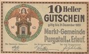 10 Heller (Purgstall) – obverse