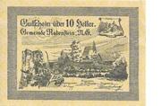 10 Heller (Rabenstein) – obverse