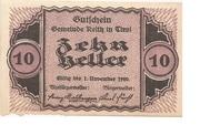 10 Heller (Reith) – obverse