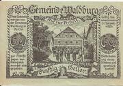50 Heller (Waldburg) – reverse