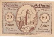 50 Heller (St. Leonhard am Walde) – obverse