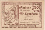 50 Heller (St. Leonhard am Walde) – reverse