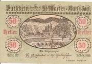 50 Heller (St. Martin am Ybbsfelde und Karlsbach) -  obverse