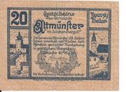 20 Heller (Altmünster) – obverse