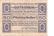 50 Heller (Stadl-Paura) – obverse