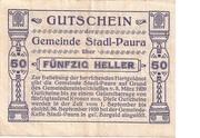 50 Heller (Stadl-Paura) – reverse