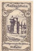 50 Heller (St. Pölten) – obverse