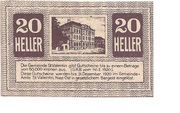 20 Heller (St. Vatentin) – obverse