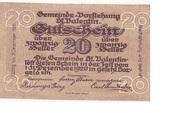 20 Heller (St. Vatentin) – reverse