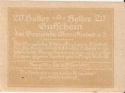 20 Heller (Steinakirchen) – reverse