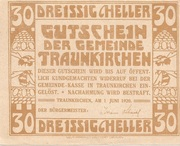30 Heller (Traunkirchen) – reverse